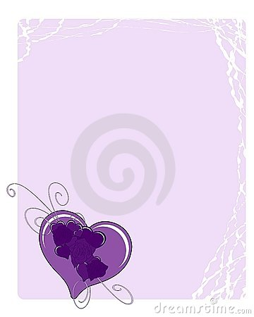 Love Background with hearts in blue tones