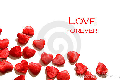 Love background. Hearts composition