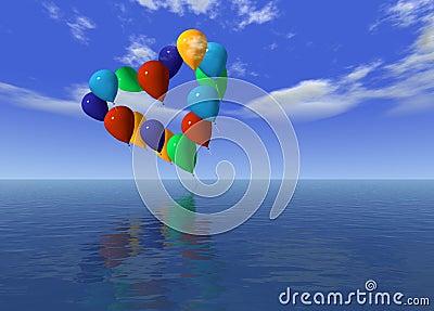 Love ballons on air
