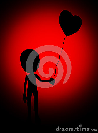 Love Balloon Silhouette