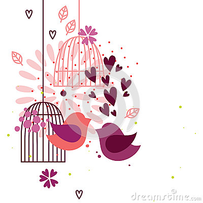 Love birds and cages