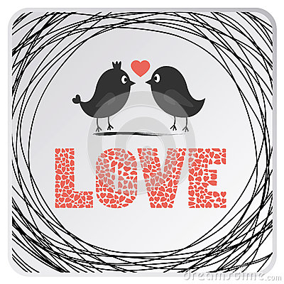 Free Love Birds Card2 Royalty Free Stock Images - 35203669