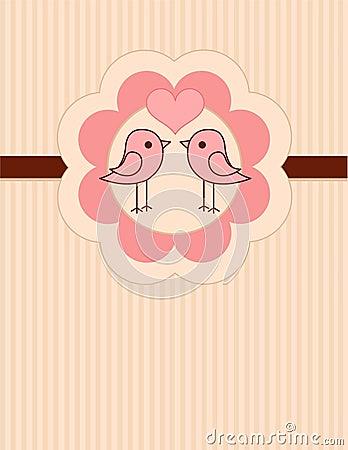 Love Birds place card