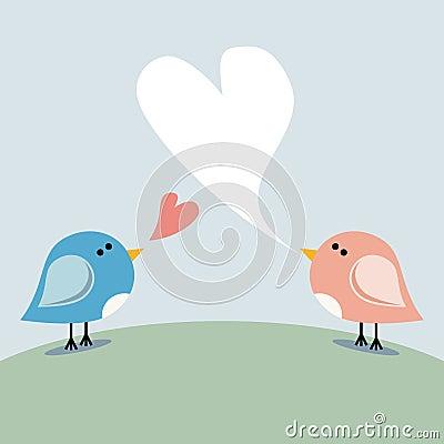Love birds singing
