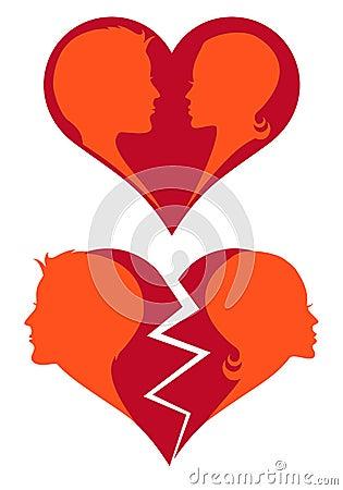 Love and broken heart,