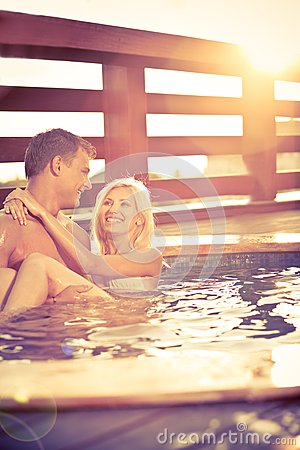 Free Love By The Pool Stock Photo - 9999750