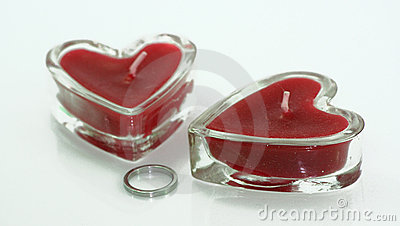 Love candle and ring