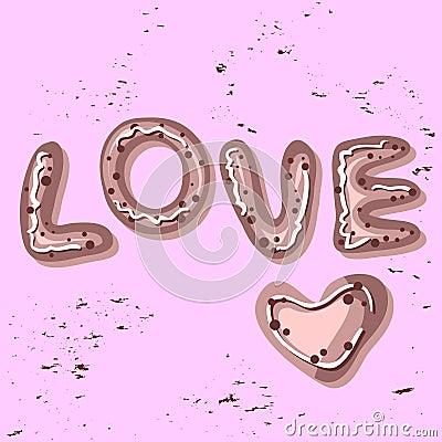 Love card bakery style