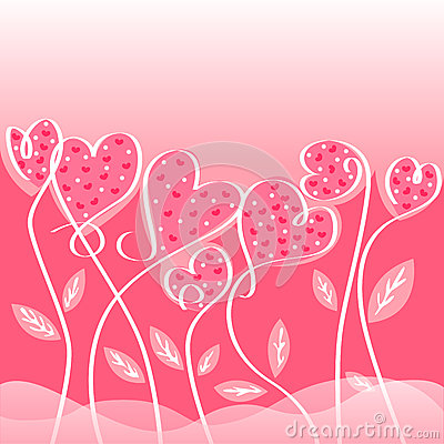 Love Card Designs Of Valentine Day Stock Vector - Image: 49154266