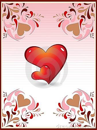Love card heart creative design