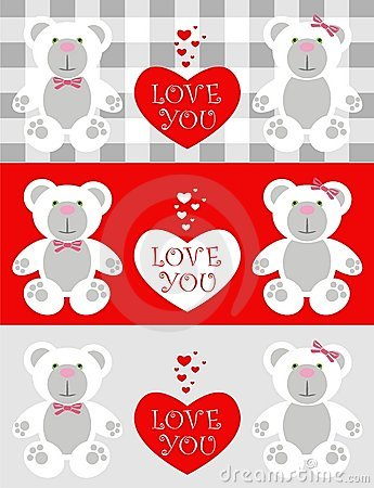 Love card Teddy
