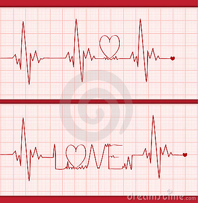 Free Love Cardiogram Royalty Free Stock Images - 23289229