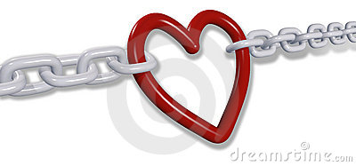 Love chains pull romantic valentine heart links
