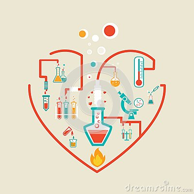 Free Love Chemistry Royalty Free Stock Images - 39099919