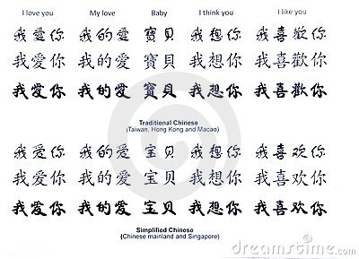 love in chinese words