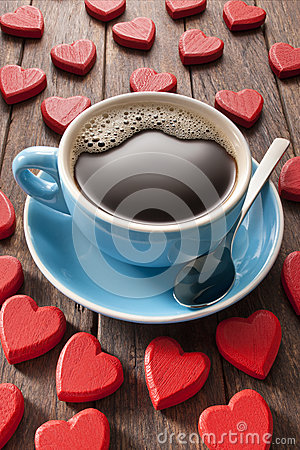 Free Love Coffee Cup Stock Images - 34994394