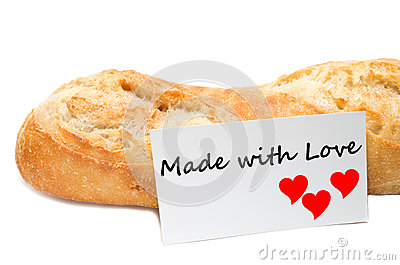 Love concept from a bakery