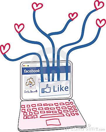 Love connections through Facebook Editorial Stock Photo