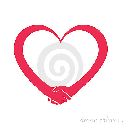 Love and cooperation heart logo