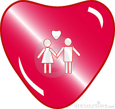 love couple button