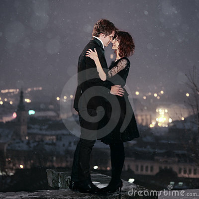 Free LOVE COUPLE On Valentine S Night Royalty Free Stock Photo - 12928355