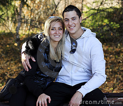 Love couple outdoors