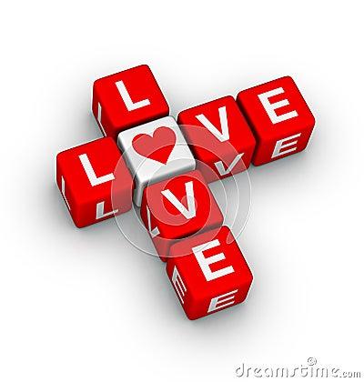 Free Love Crossword Stock Photo - 22692790