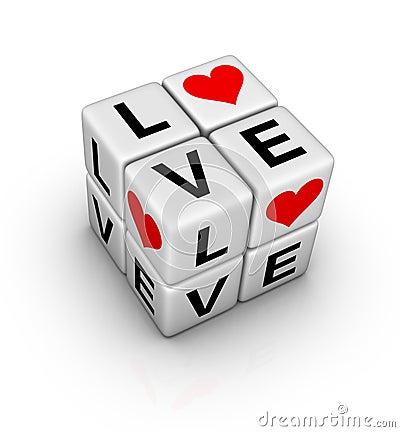 Free Love Crossword Royalty Free Stock Photography - 22692797