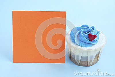Love Cupcake and Orange Note Pad