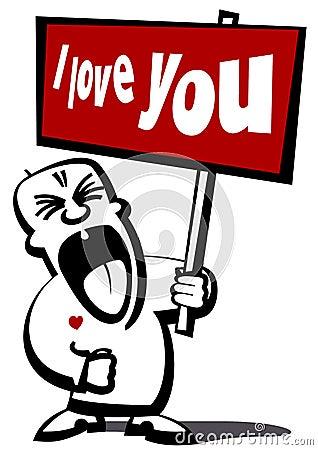 Free Love Declaration Royalty Free Stock Photography - 4474407