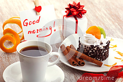 Love Design With Morning Coffee Stock Photo Image 47273759