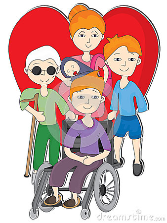 Free Love Disability People_eps Stock Image - 27778501