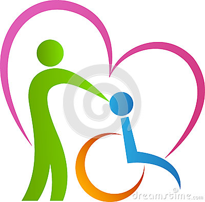 Love disabled Vector Illustration