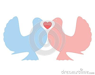 Love Doves (vector)