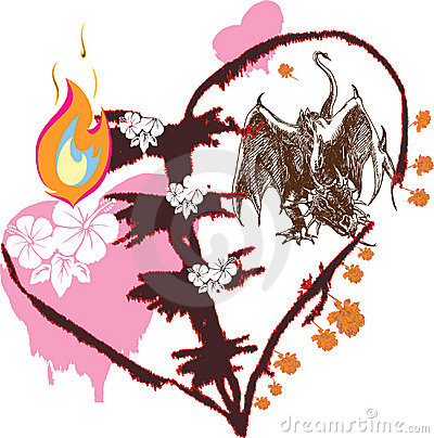 Free Love Dragon Royalty Free Stock Image - 6215716