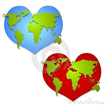 Love The Earth Heart Shaped Clip Art
