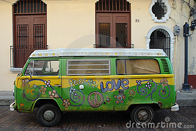 Love expression. Hippie Van