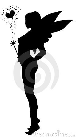 Love fairy silhouette