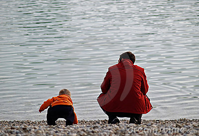 Love / Father And Son At The Lake Shore