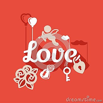 Love flat design