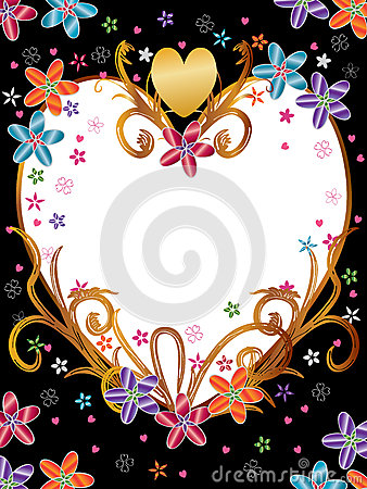 Love Flowers Frame Product_eps