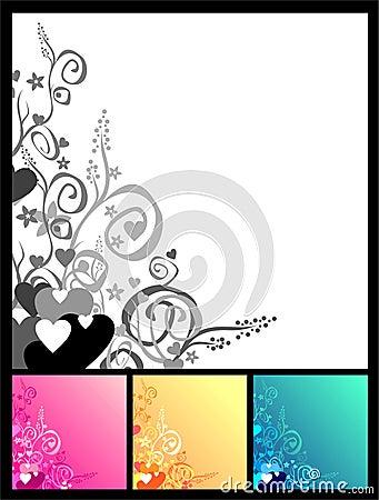 Free Love & Flowers & Scrolls Background Stock Photos - 1778213