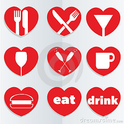 Love food icons