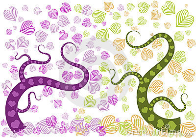 Love forest Purple and Green