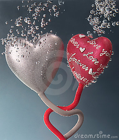 Love forever between two hearts