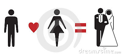 Love formula wedding symbolic sign