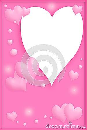 Love frame in pink