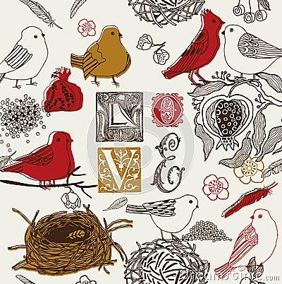 Love Garden Pattern