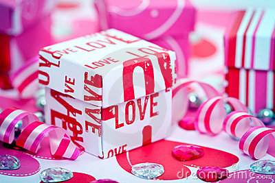 Love Gift Box and Ribbons