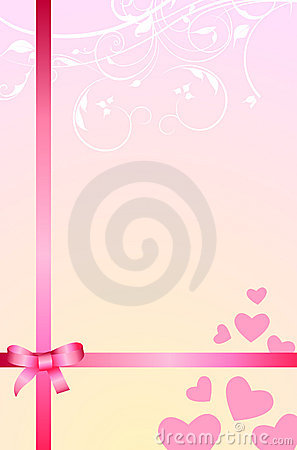 Love gift romantic background